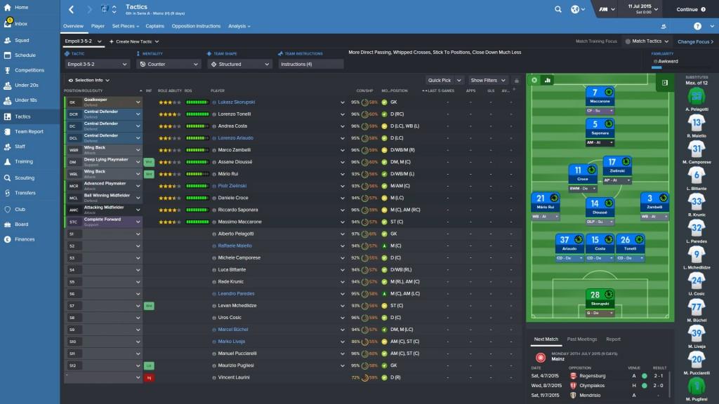 3-5-2 Empoli tactics