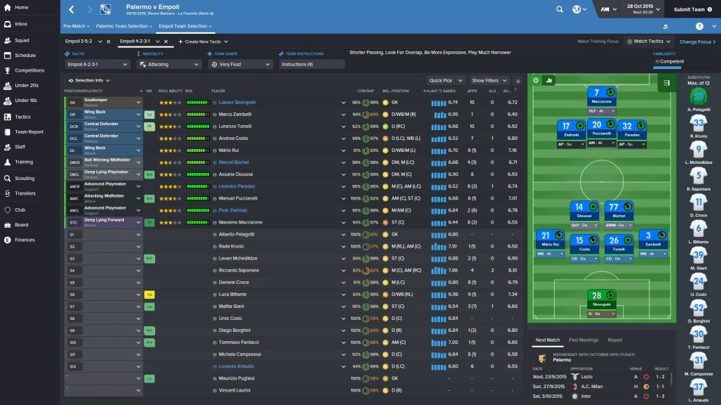 Empoli 4-2-3-1 attacking